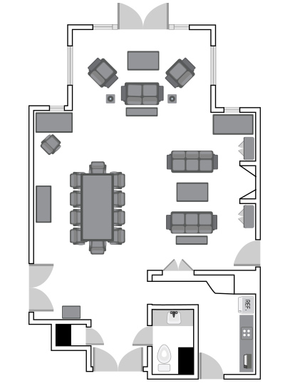 Gamble Suite Floor Plan