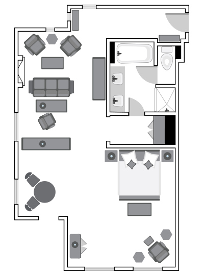 Robinson Suite Floor Plan