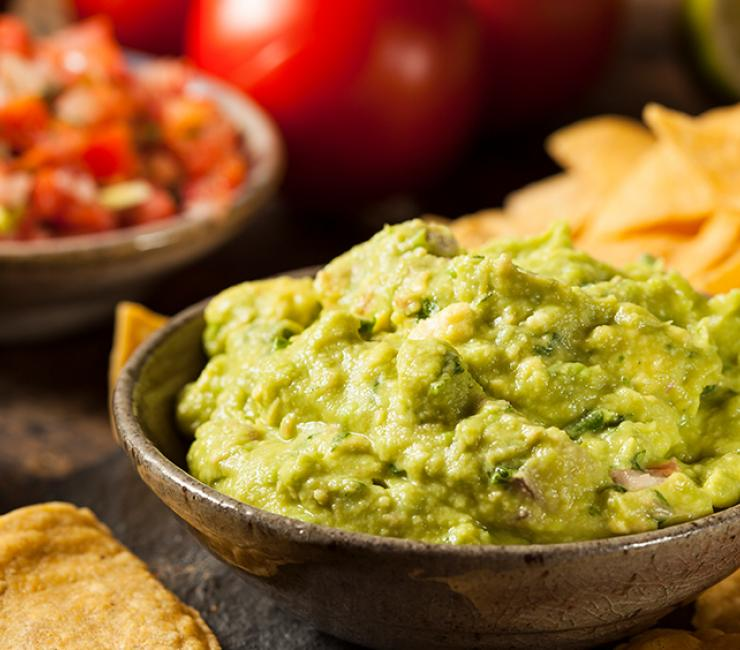 Fresh tortilla chips served with house-made guacamole