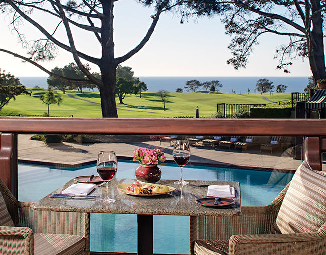 Lunch served on the ARV deck overlooking Torrey Pines Golf Course