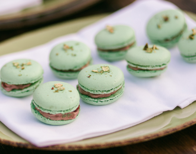 Close up of macaroons served at The Lodge at Torrey Pines