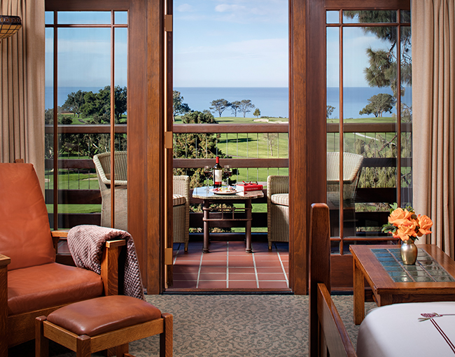 Palisade Room looking out over the Torrey Pine Golf Course