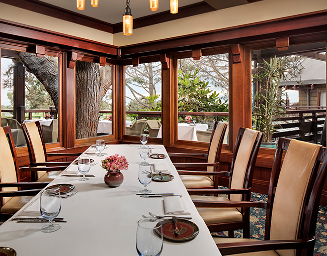 Private dining room at AR Valentien