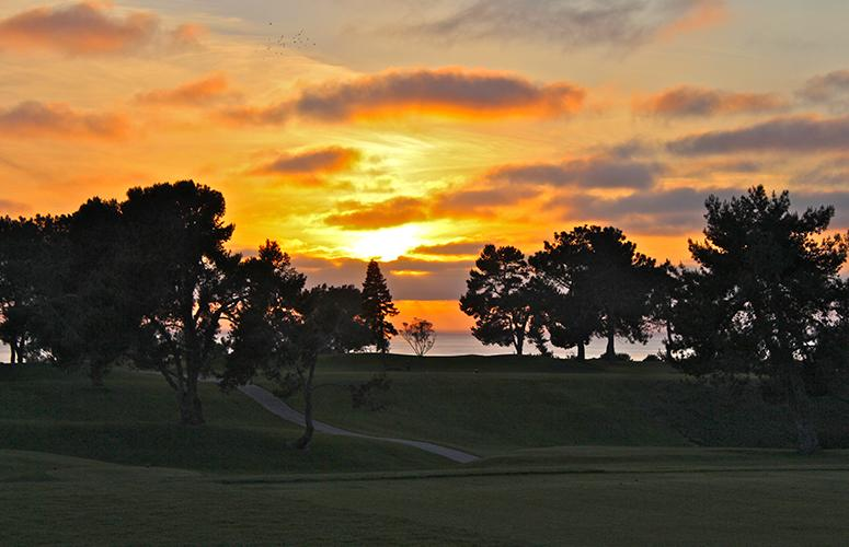 Sunset over the Torrey Pines Golf Course
