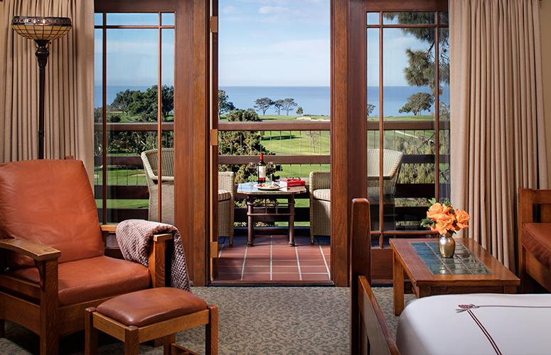 Palisade room looking out at Torrey Pines Golf Course