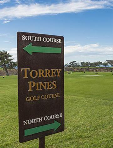 Torrey Pines Golf Course directional sign